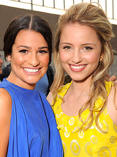 Two singers from Glee
